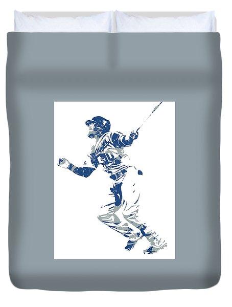 Justin Turner Los Angeles Dodgers World Series Homerun Duvet Cover