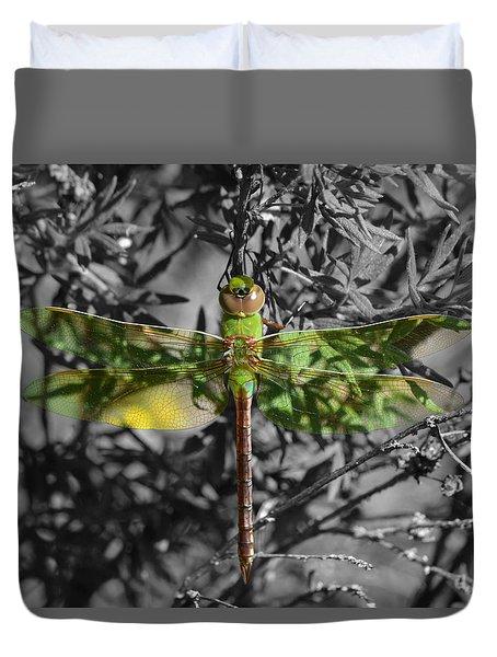 Juvenile Green Darner Duvet Cover