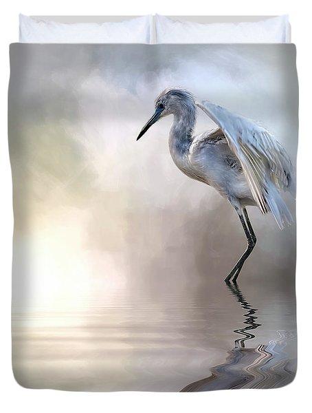 Juvenile Heron Duvet Cover