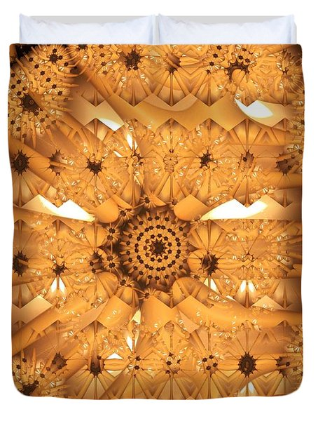 Duvet Cover featuring the digital art Juxtapose by Ron Bissett