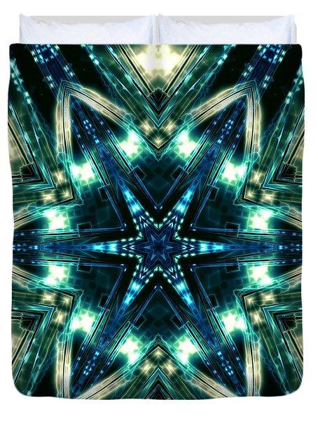 Duvet Cover featuring the digital art Jyoti Ahau 100 by Robert Thalmeier
