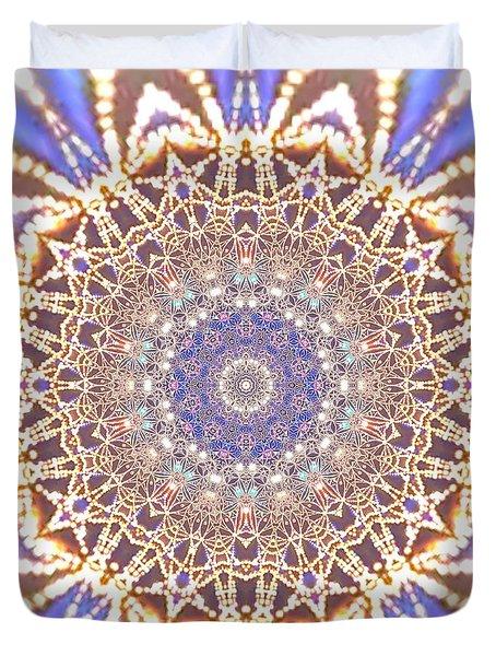 Duvet Cover featuring the digital art Jyoti Ahau 14 by Robert Thalmeier
