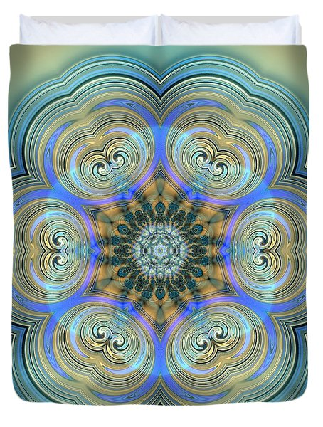 Duvet Cover featuring the digital art Jyoti Ahau 140 by Robert Thalmeier