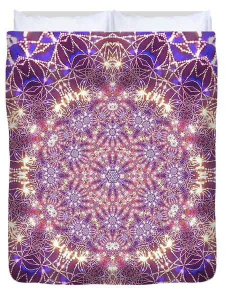 Duvet Cover featuring the digital art Jyoti Ahau 15 by Robert Thalmeier