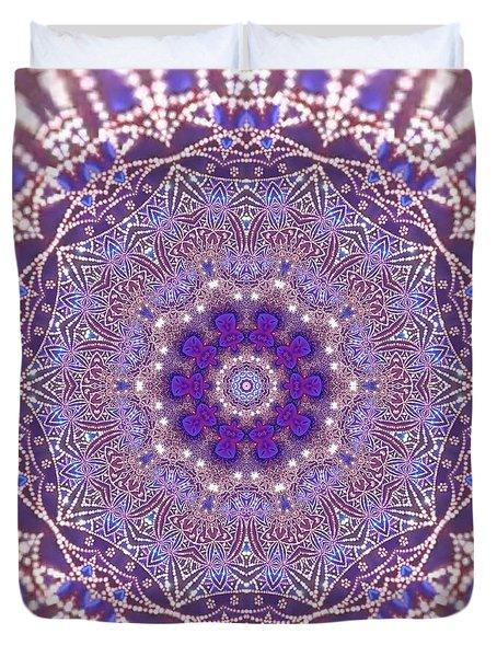 Duvet Cover featuring the digital art Jyoti Ahau 21 by Robert Thalmeier
