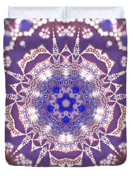 Duvet Cover featuring the digital art Jyoti Ahau 22 by Robert Thalmeier
