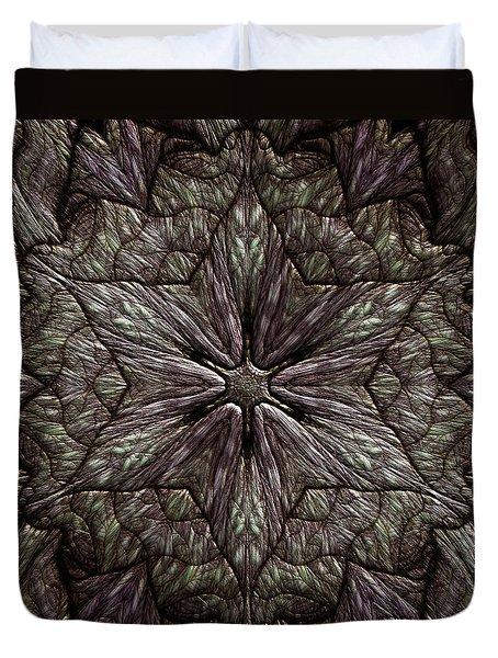 Duvet Cover featuring the digital art Jyoti Ahau 220 by Robert Thalmeier