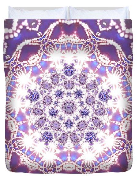 Duvet Cover featuring the digital art Jyoti Ahau 23 by Robert Thalmeier