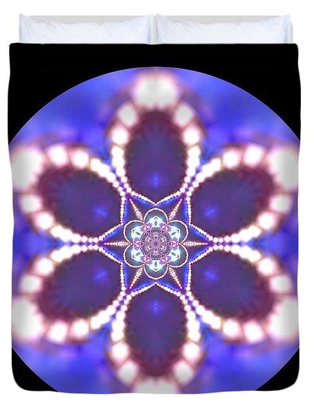 Duvet Cover featuring the digital art Jyoti Ahau 24 by Robert Thalmeier