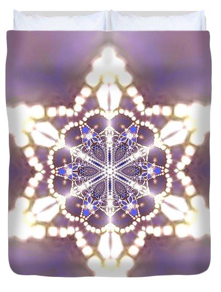 Duvet Cover featuring the digital art Jyoti Ahau 27 by Robert Thalmeier