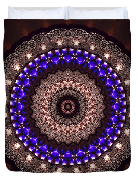Duvet Cover featuring the digital art Jyoti Ahau 38 by Robert Thalmeier