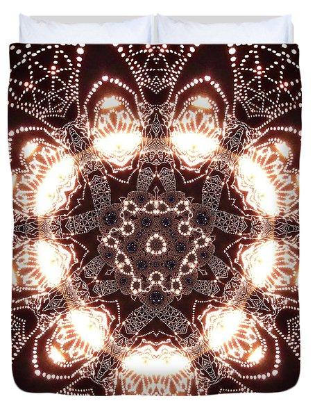 Duvet Cover featuring the digital art Jyoti Ahau 45 by Robert Thalmeier