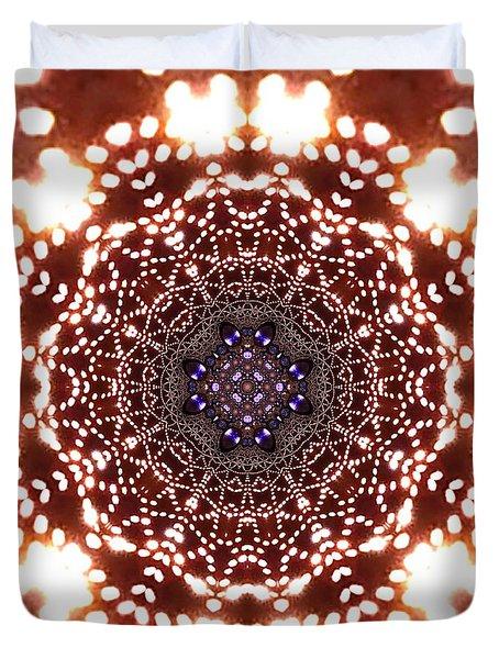 Duvet Cover featuring the digital art Jyoti Ahau 46 by Robert Thalmeier
