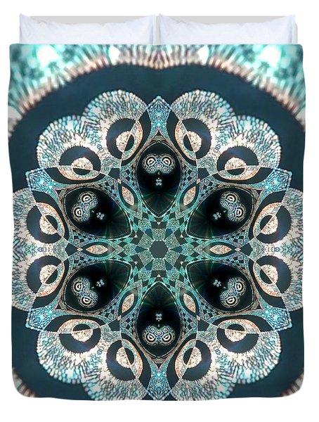 Duvet Cover featuring the digital art Jyoti Ahau 50 by Robert Thalmeier