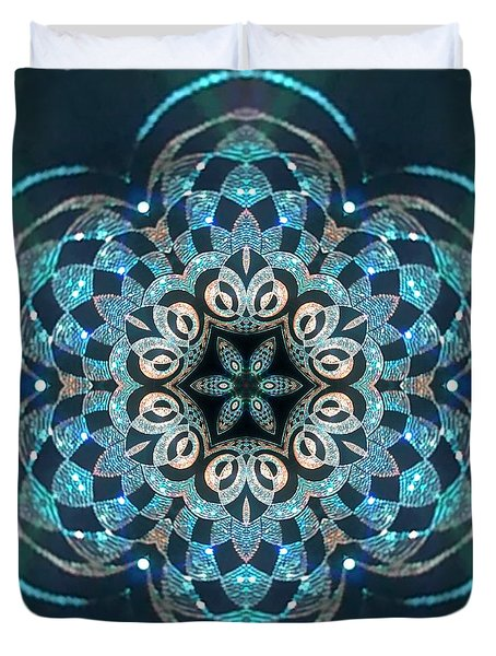 Duvet Cover featuring the digital art Jyoti Ahau 53 by Robert Thalmeier