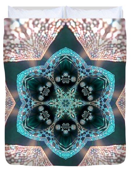Duvet Cover featuring the digital art Jyoti Ahau 55 by Robert Thalmeier