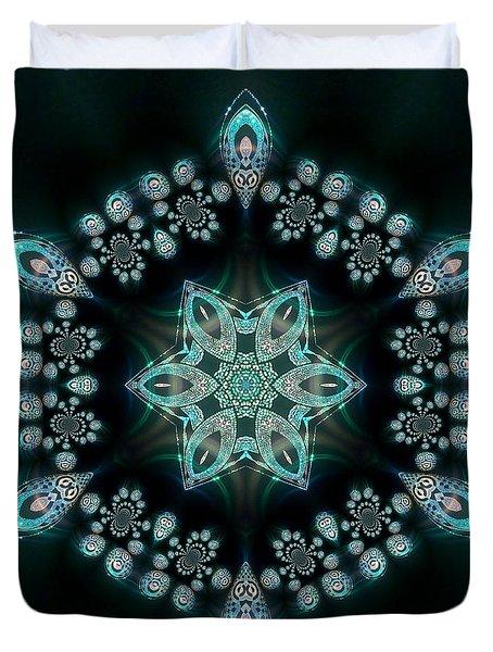 Duvet Cover featuring the digital art Jyoti Ahau 58 by Robert Thalmeier
