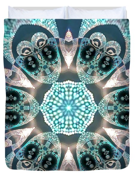 Duvet Cover featuring the digital art Jyoti Ahau 59 by Robert Thalmeier