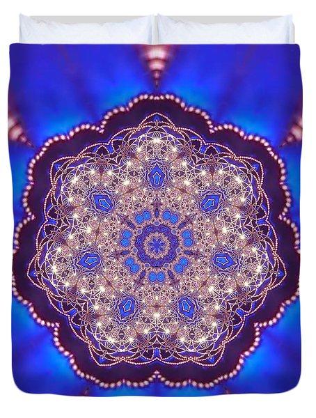 Duvet Cover featuring the digital art Jyoti Ahau 8 by Robert Thalmeier