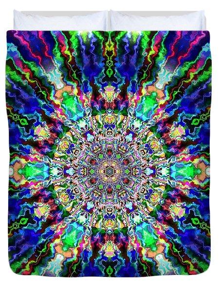 Duvet Cover featuring the digital art Jyoti Ahau 86 by Robert Thalmeier