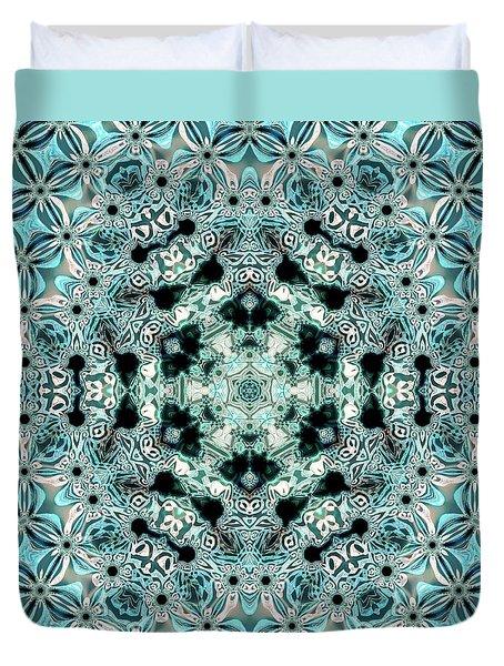 Duvet Cover featuring the digital art Jyoti Ahau 996 by Robert Thalmeier