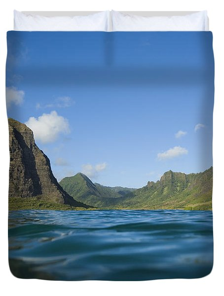 Kaaawa Valley From Ocean Duvet Cover by Dana Edmunds - Printscapes