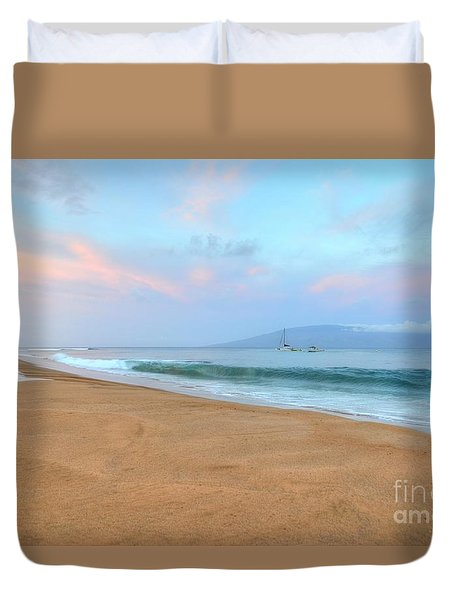 Duvet Cover featuring the photograph Ka'anapali Delight  by Kelly Wade