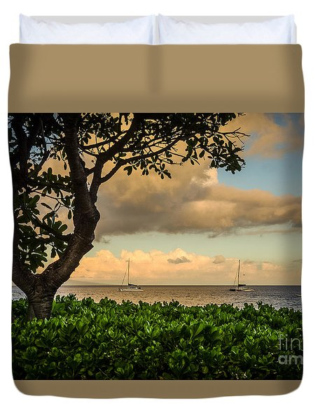 Duvet Cover featuring the photograph Ka'anapali Plumeria Tree by Kelly Wade