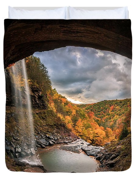 Kaaterskill Falls Duvet Cover