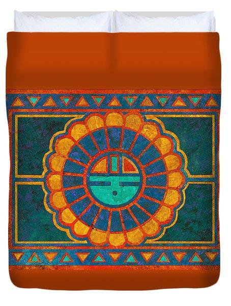 Kachina Sun Spirit Duvet Cover by Linda Henry