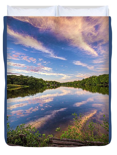 Kahler's Pond Clouds Duvet Cover