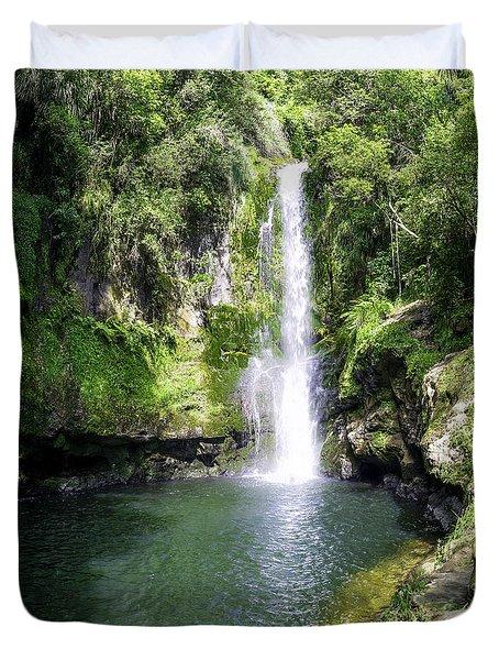 Kaiate Falls Duvet Cover by Martin Capek