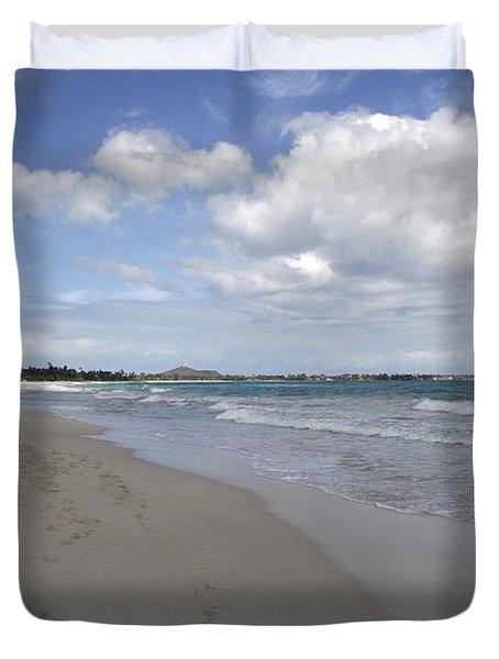 Kailua Beach, Oahu Duvet Cover