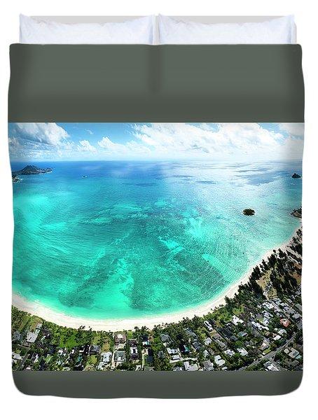 Kailua - Lanikai Overview Duvet Cover