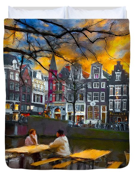 Kaizersgracht 451. Amsterdam Duvet Cover