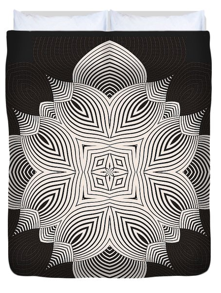 Duvet Cover featuring the digital art Kal - 71c89 by Variance Collections