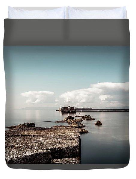 Kalamata Port / Greece Duvet Cover