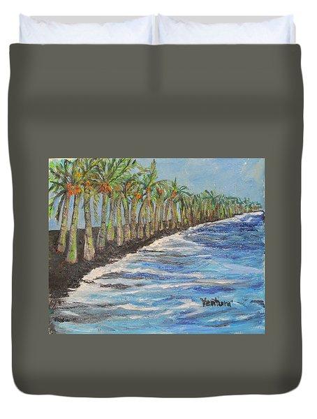 Kalapana Beach Duvet Cover