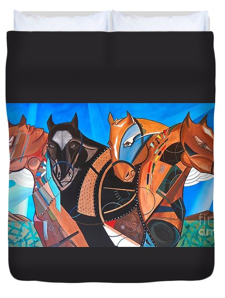 Kaleden Spirit Horse Duvet Cover
