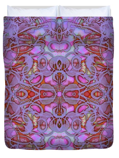 Kaleid Abstract Focus Duvet Cover