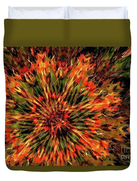 Kaleidoscope 1 Duvet Cover by Jean Bernard Roussilhe