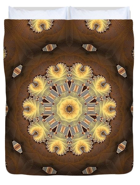 Kaleidoscope 125 Duvet Cover by Ron Bissett