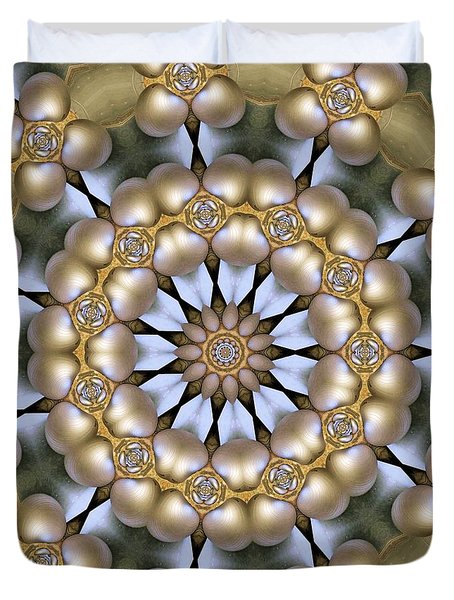 Duvet Cover featuring the digital art Kaleidoscope 130 by Ron Bissett