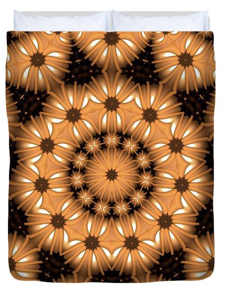 Kaleidoscope 131 Duvet Cover by Ron Bissett