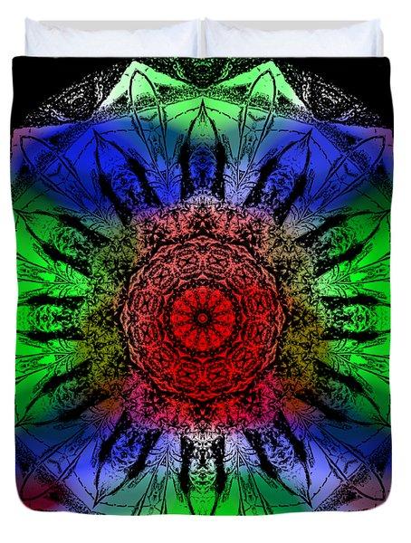 Duvet Cover featuring the digital art Kaleidoscope by Deleas Kilgore