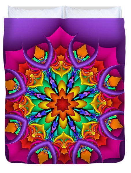 Kaleidoscope Flower 01 Duvet Cover