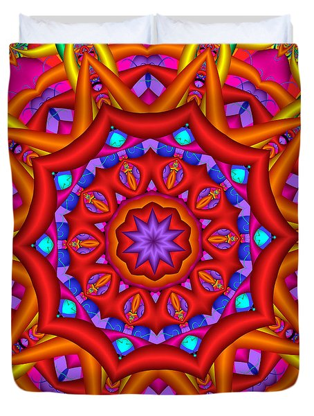 Kaleidoscope Flower 02 Duvet Cover