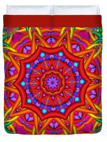 Kaleidoscope Flower 02 Duvet Cover