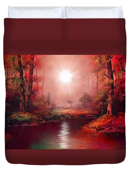 Kaleidoscope Forest Duvet Cover by Michael Rucker