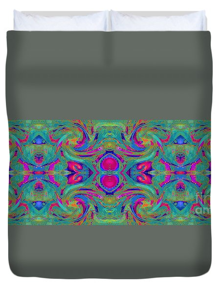 Kaleidoscope Heart Duvet Cover